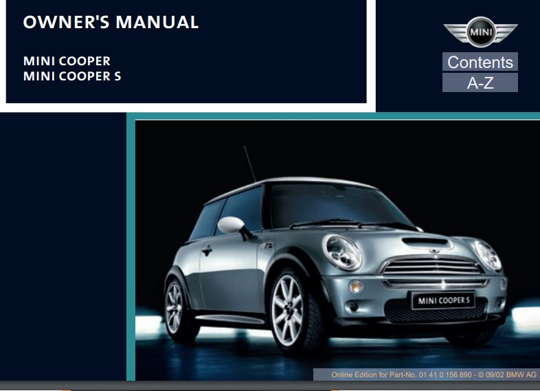 all about mini owners manuals mini cooper 2002 2018 motoring rh motoringalliance com Manual Book Manual E Instrument